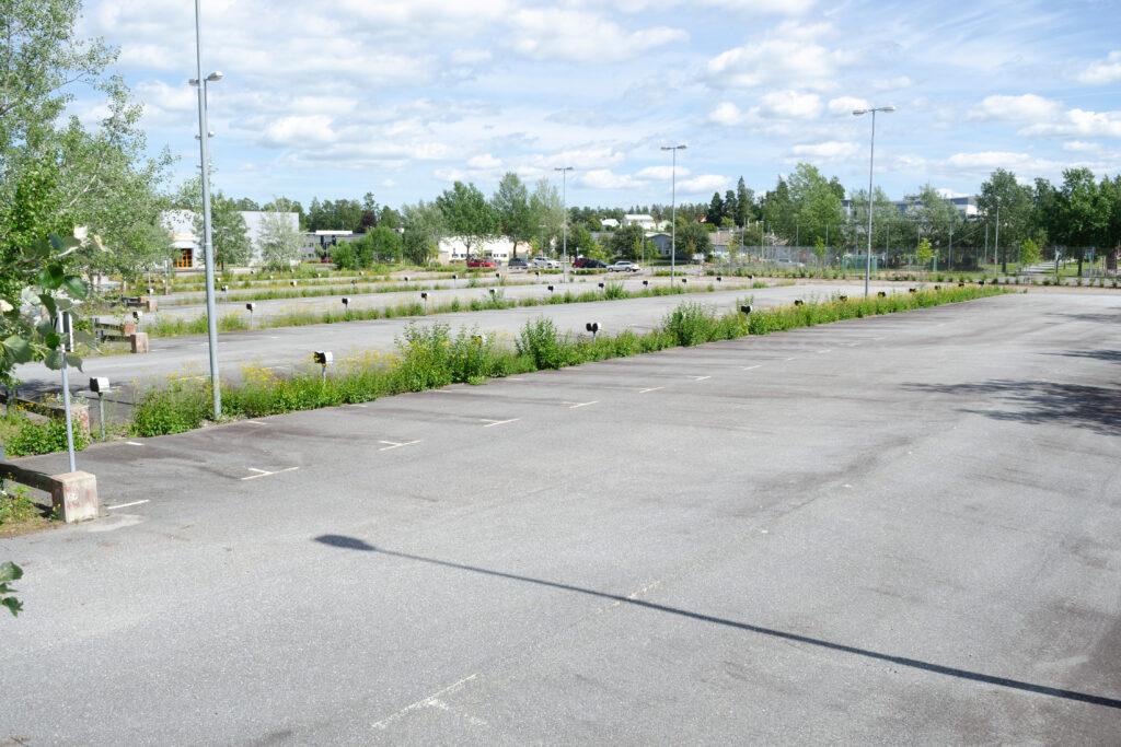 Parkeringsområde.